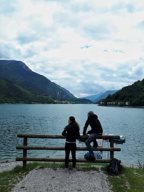 Steven Herteleer in Valle di Ledro, Lago di Ledro enjoying the views