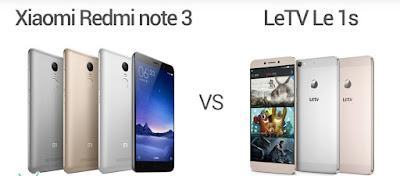 Letv Le 1s Redmi Note 3
