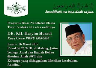 Ulama Indonesia Kyai Haji Ahmad Hasyim Muzadi Wafat
