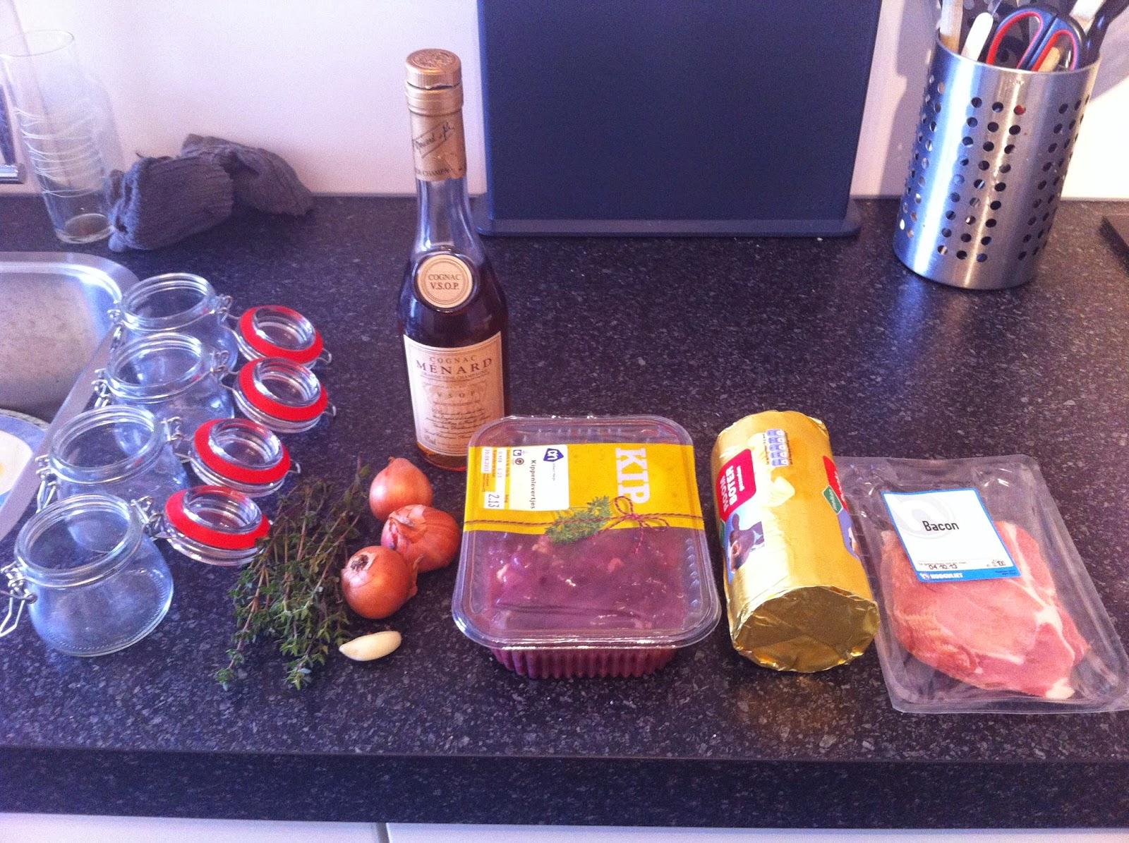 Ingrediënten voor de parfait
