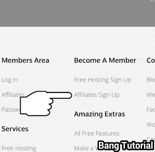 Dashboard 000webhost Bagian Sign Up Affiliate