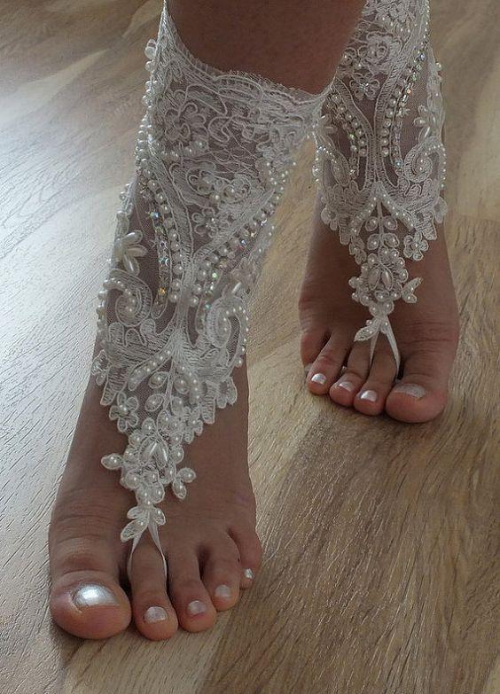 barefoot wedding shoes - photo #35