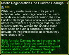 naruto castle defense 6.0 Stunade Mitotic Regeneration.One Hundred Healings detail