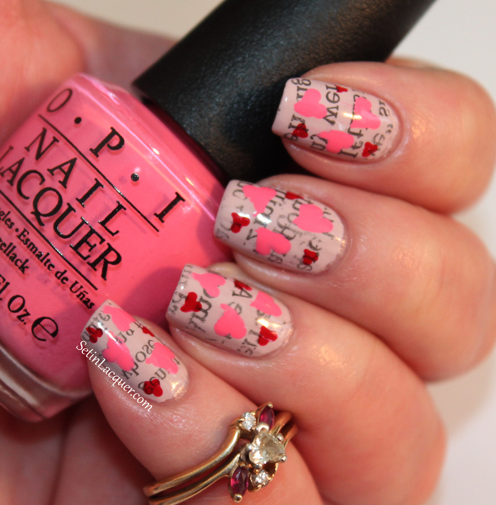 Story Pieces Of Best Marriage Advice Ever Collected Over Years: Love Letter Nail Art With OPI