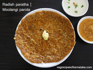 moolangi parota recipe in Kannada