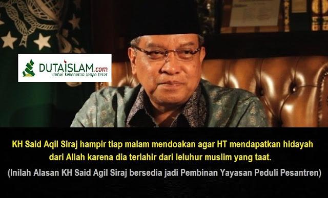 ini Klarifikasi dan Alasan KH Said Aqil Siradj Masuk Kepengurusan Yayasan Kristen