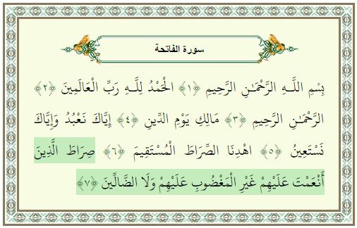 ceux que TU as comblé de faveur, anamta alayhim