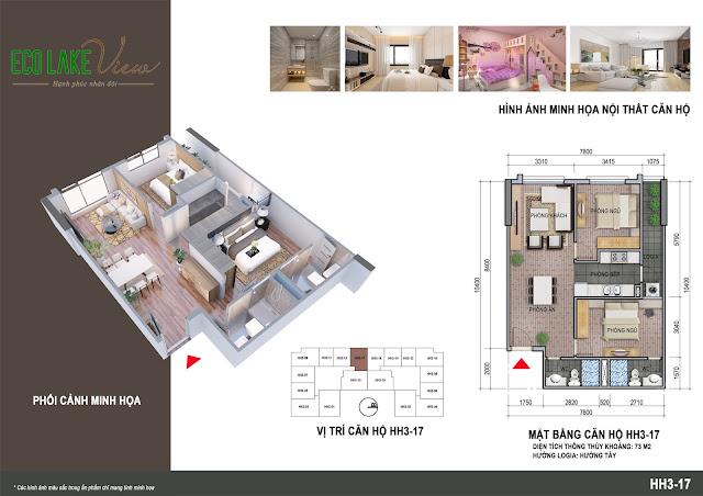 Thiết kế căn hộ số 17 tòa HH03
