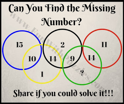 Olympic Rings Missing Number Puzzle Question