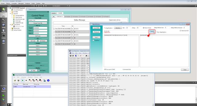 Simulateur d'équipement RFID développé avec Visual Studio WPF.