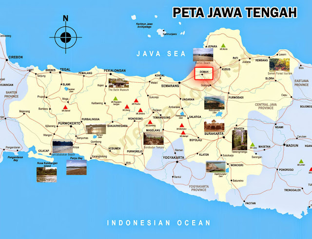 Demak location in map