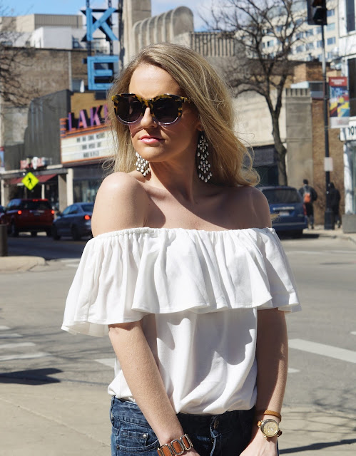 off the shoulder top perfect for spring