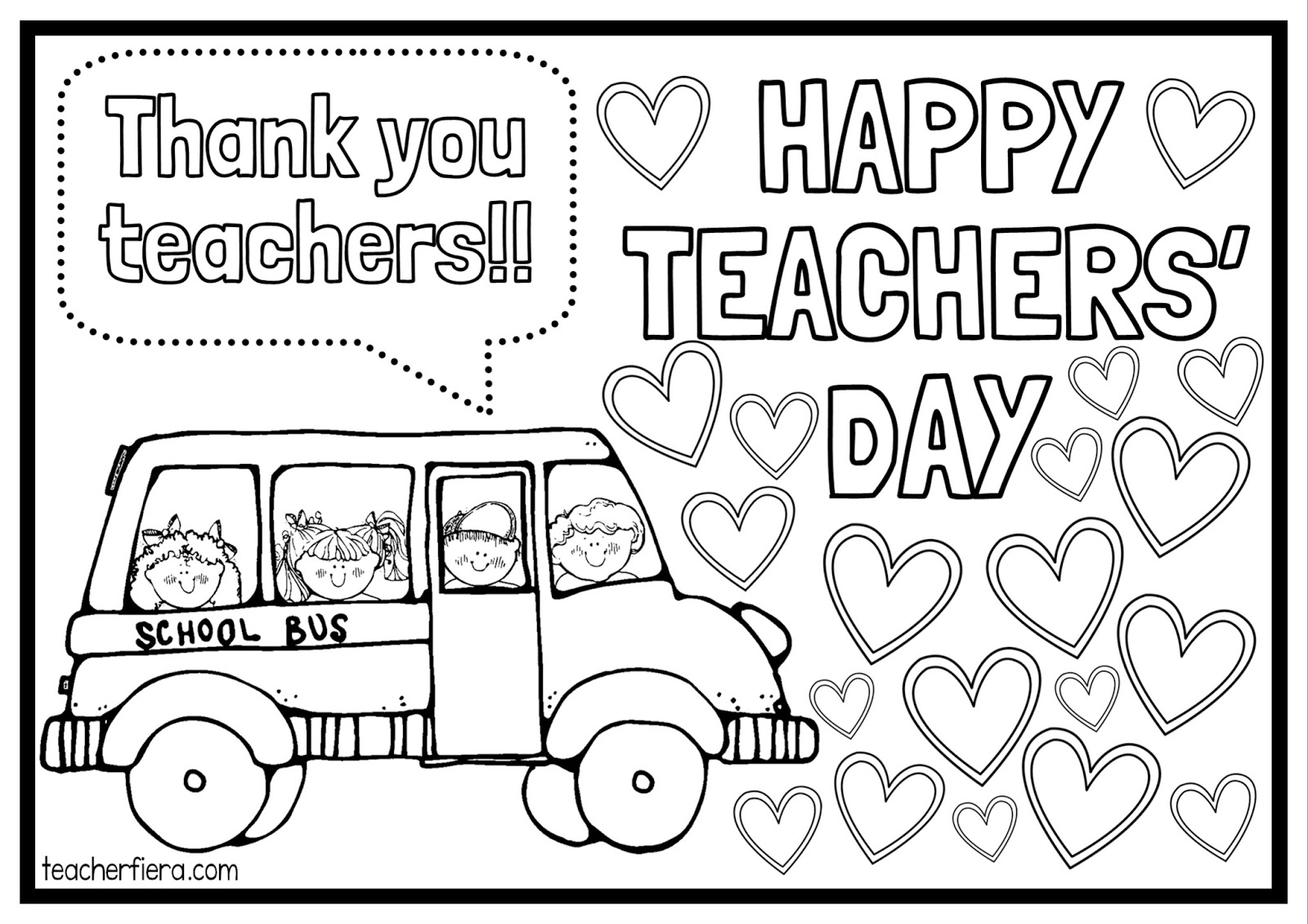 Teacherfiera Happy Teachers Day Colouring