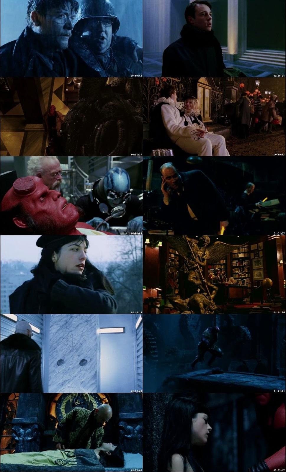Screen Shot Of Hellboy 2004 In Hindi English Dual Audio Bluray