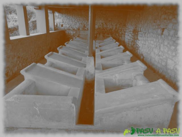 Interior del Lavadero público de Alevia