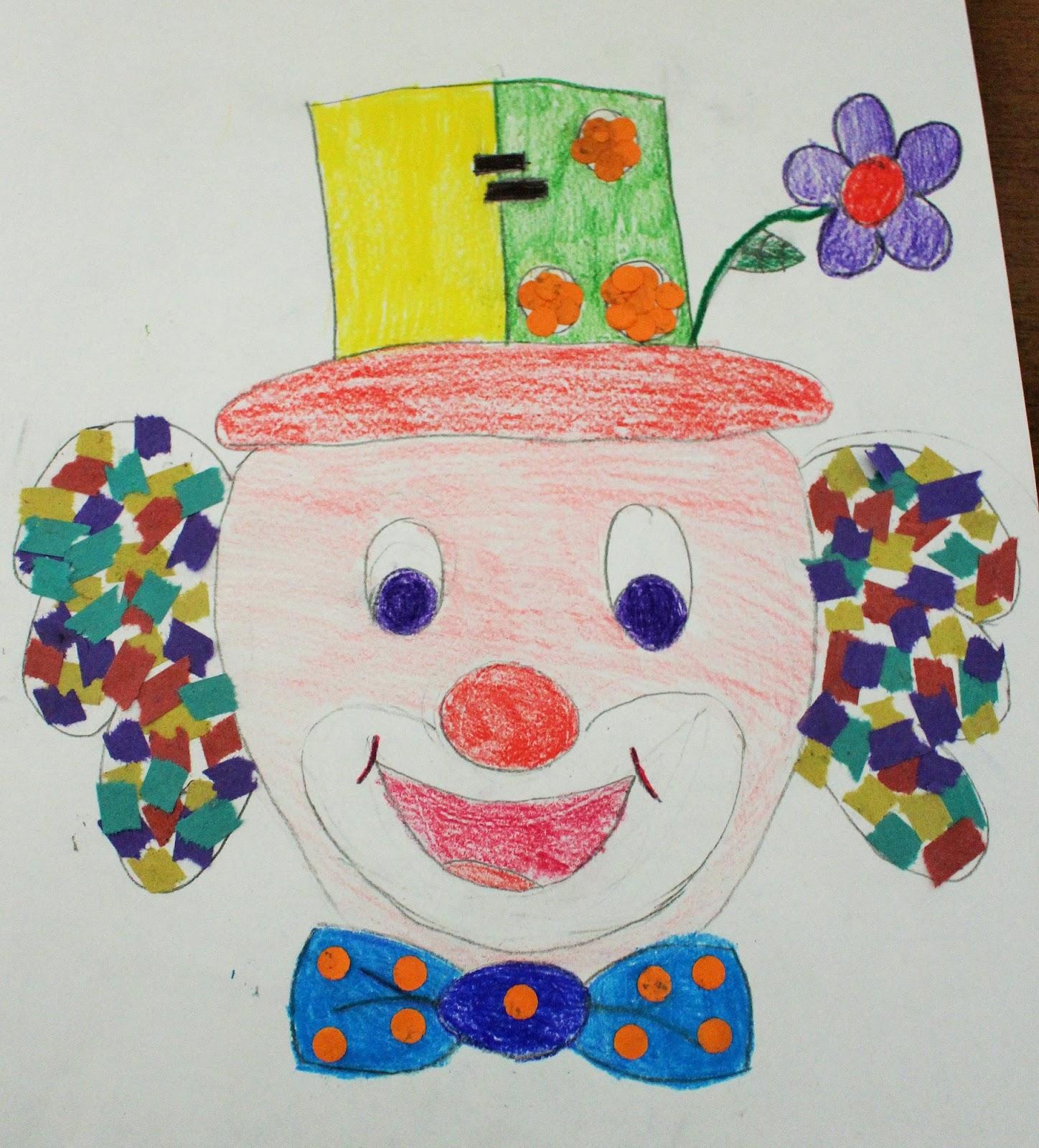 Mamma gioca pagliaccio collage for Pagliaccio da disegnare
