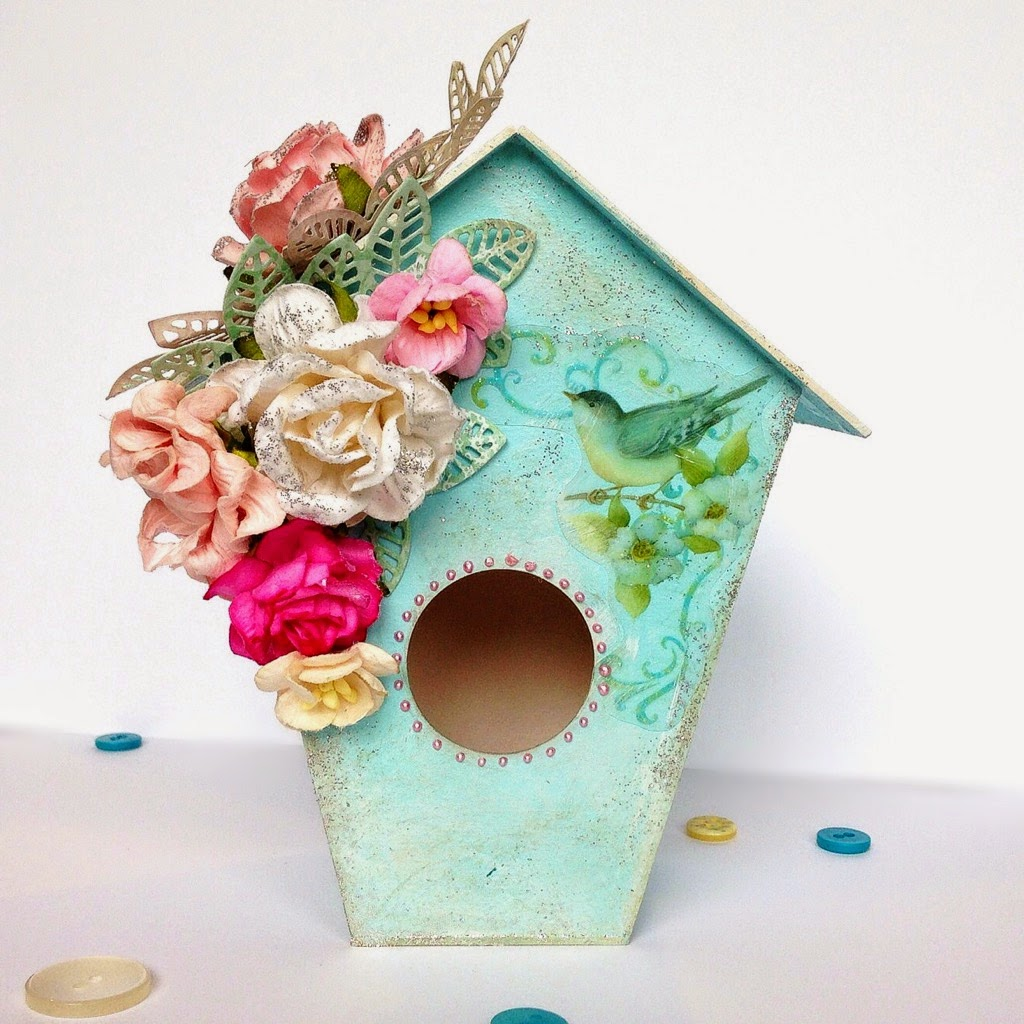 Bird house shabby chic