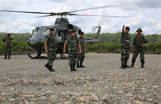 Cek Kesiapan, Asops Panglima TNI Tinjau Latihan PPRC TNI 2018 di Timika