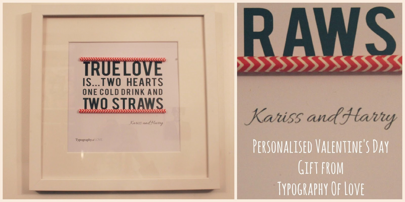 Valentine's Day Gift from Typography of Love