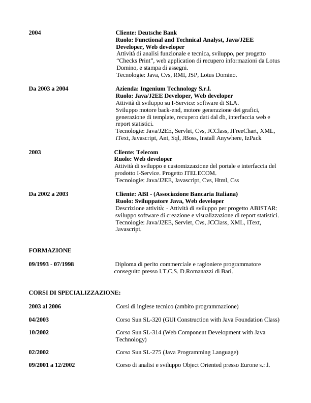 Mauriziofranco Blog It Profile Curriculum Vitae