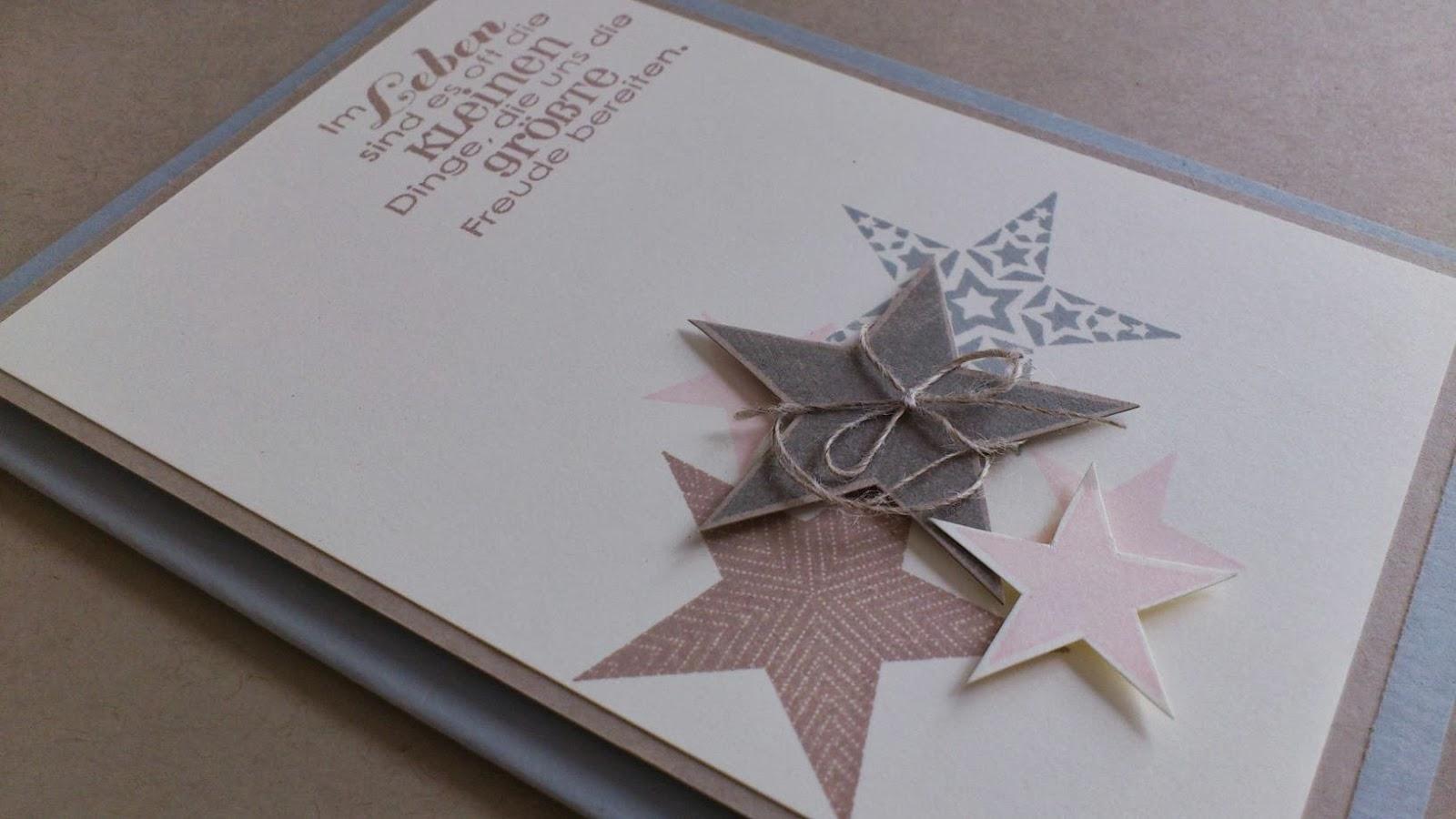 Weihnachtskarten Mit Sternen Basteln.Paperdream Eine Handvoll Sterne