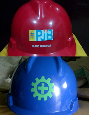 Sablon Helm Proyek PJB / Printing Helm Proyek PJB