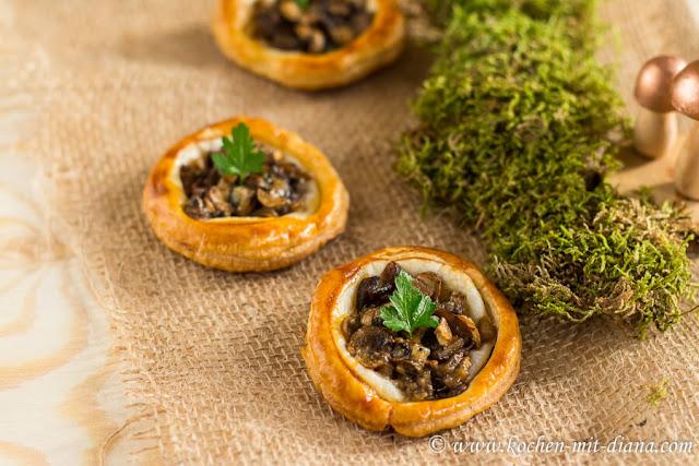Tartelettes mit Pilzen