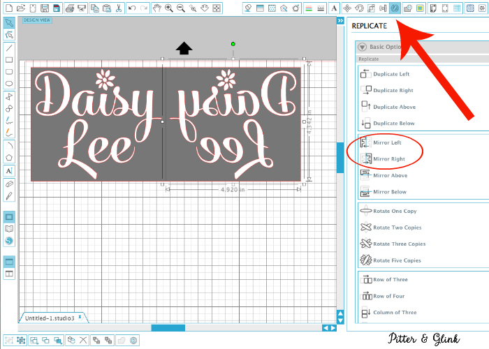 Always mirror objects and phrases before cutting with heat transfer vinyl. | pitterandglink.com