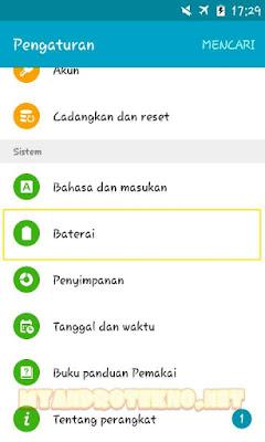 Cara Menampilkan Persentase Baterai di Status Bar Android