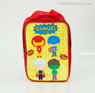 lembrancinha heróis cute, festa heróis cute, mochilinha, mochilinha heróis cute personalizada, personalizados,
