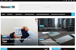 Download NewsOn Blogger Template (Premium)