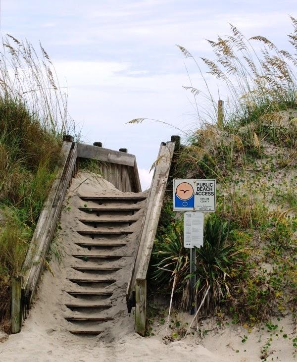 Beach Access on a Rainy Day