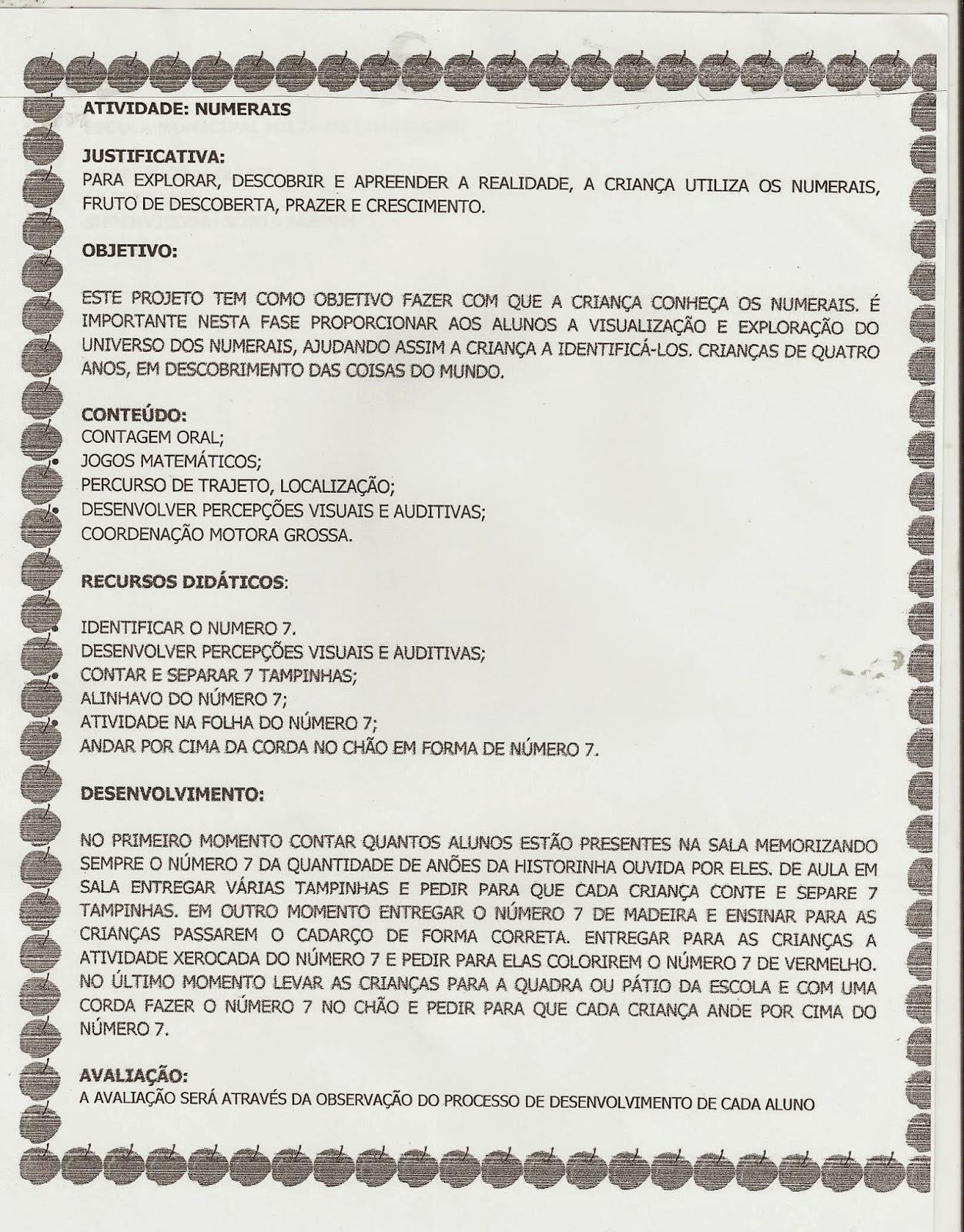 Famosos Profª: Ivani Ferreira: Plano de aula para 1º período/Numerais e  DU57