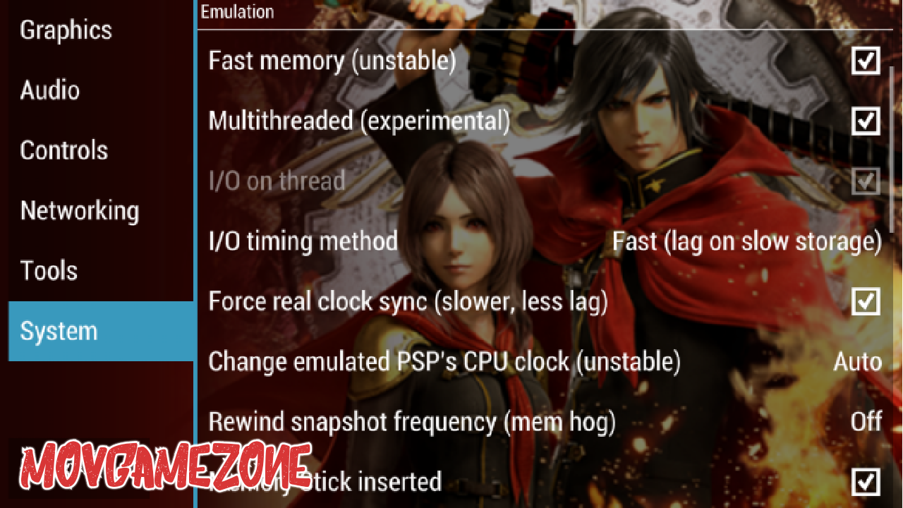 Best PPSSPP Setting Of Final Fantasy Type 0 Gold Version 1