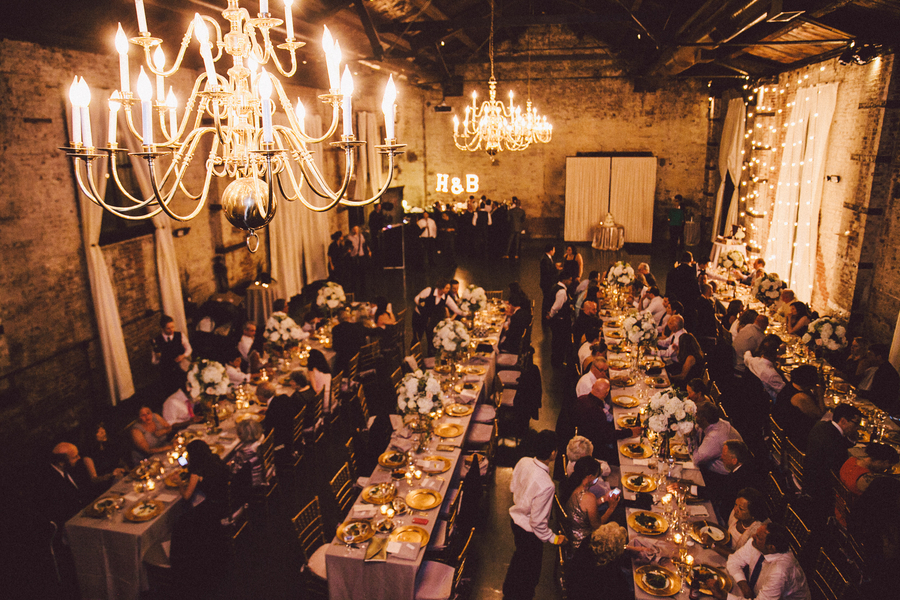 Speakeasy Themed Industrial Real Wedding