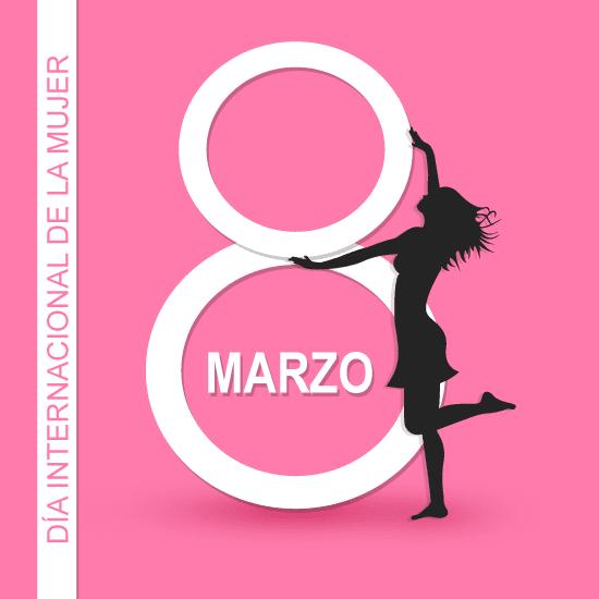 8 de Marzo Día de la Mujer - vector