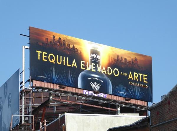 Avion Tequila Elevado a un arte billboard