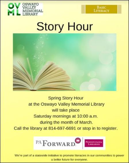 "Saturdays in March ""Spring Story Hour"" at OVML"