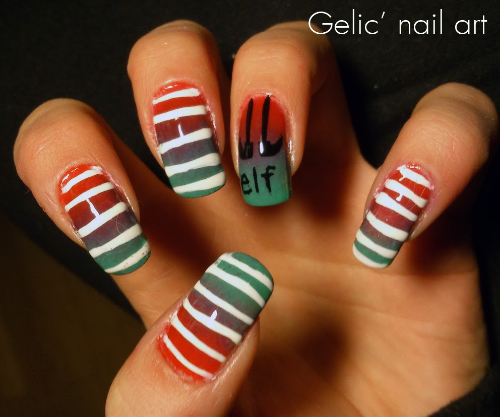 Christmas Nails Elf: Gelic' Nail Art: Christmas Elf Nail Art