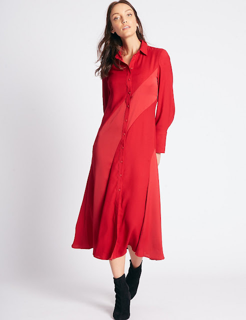 Червона сукня-сорочка