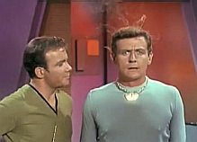 Captain Kirk and Norman the android