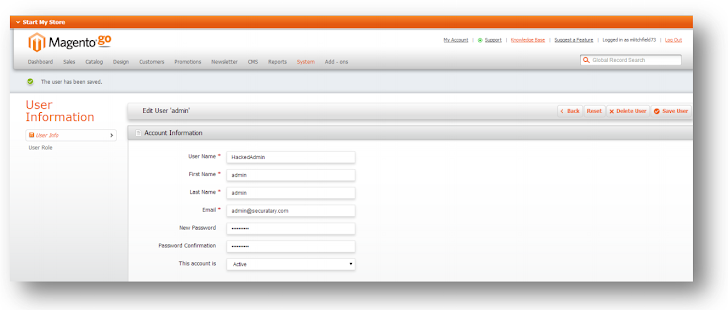 Magento critical vulnerability allows an attacker to create Administrative User