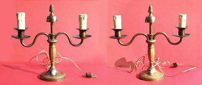 Coppia di lampade art déco - design - vintage