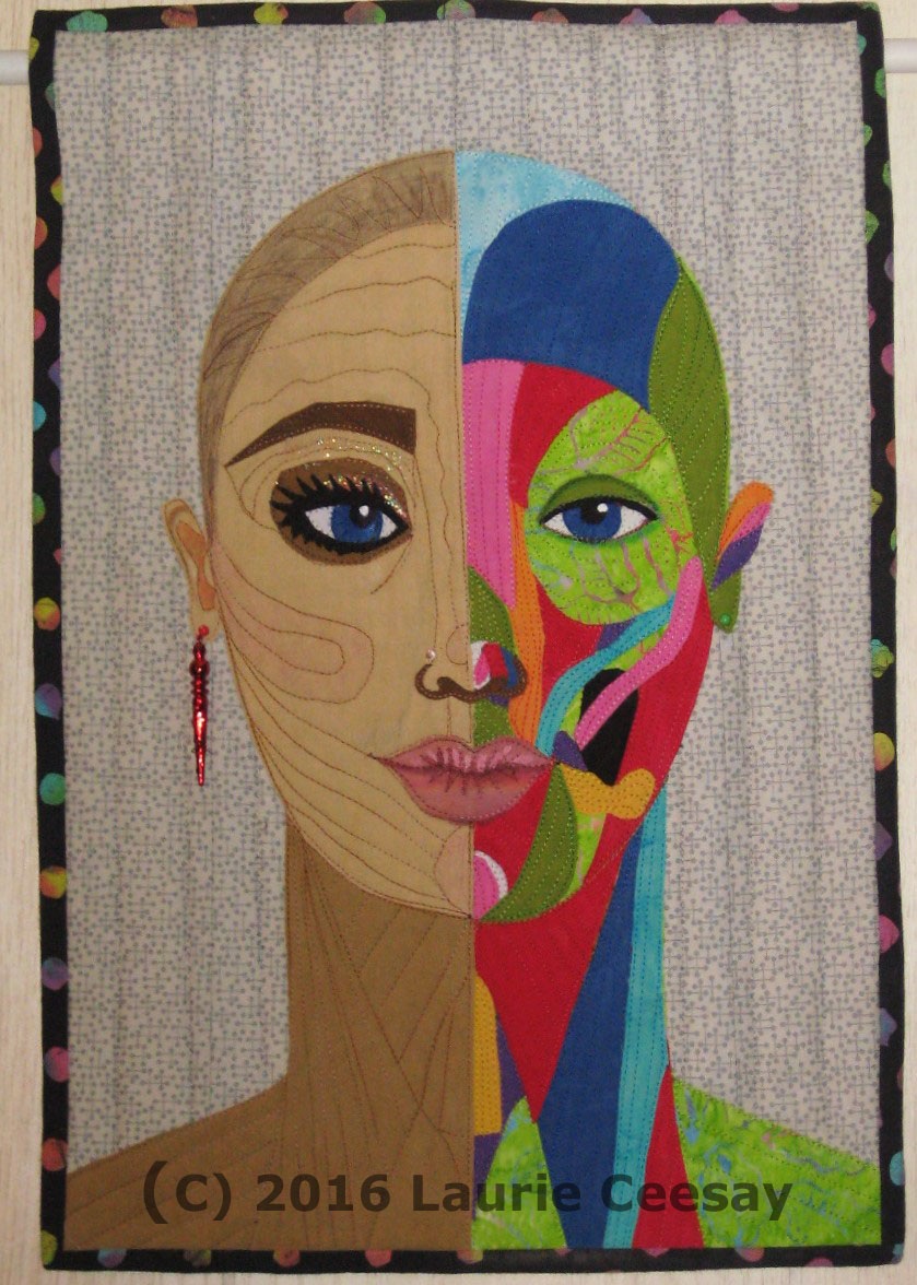 Science Laurie Ceesay Anatomy Facial Muscles Art Quilts