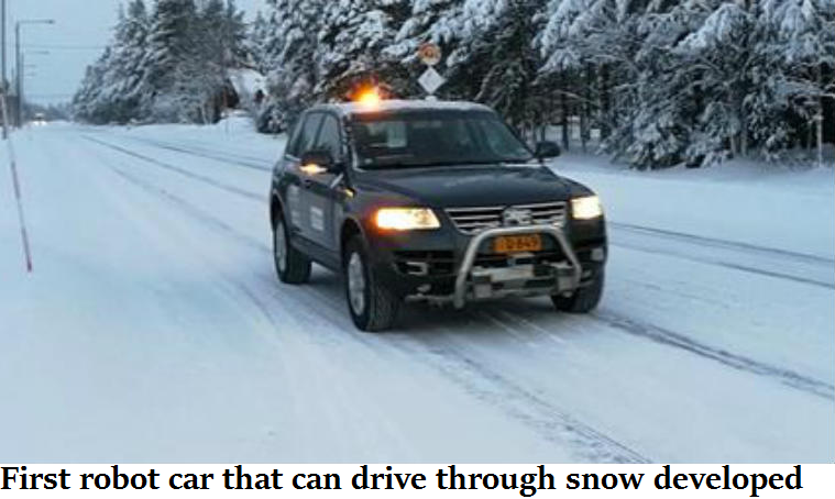 First robot car that can drive through snow developed