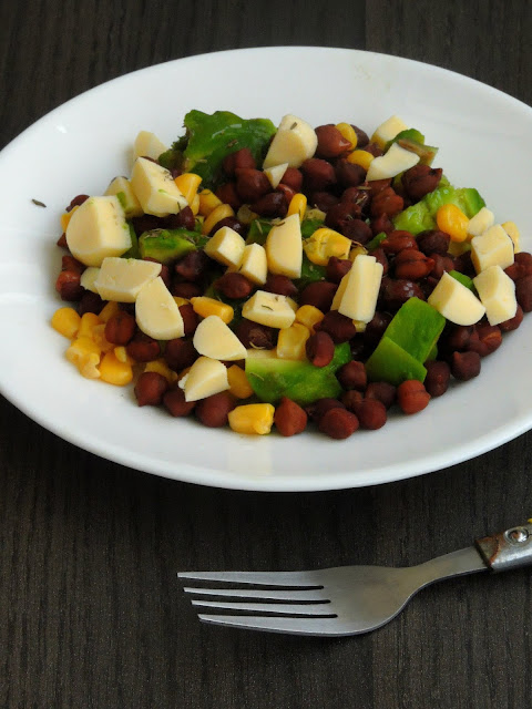 Chickpeas & Cheese Salad