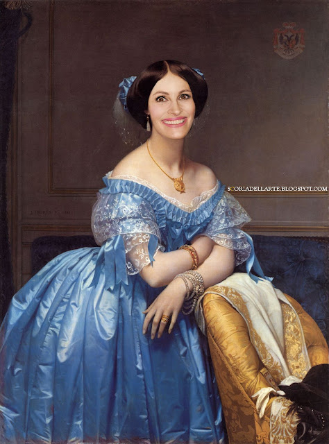 photomanipulation-artwork-fotomontaggi Julia Roberts-Ingres