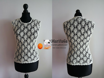 How to crochet elegant pineapple top, blouse