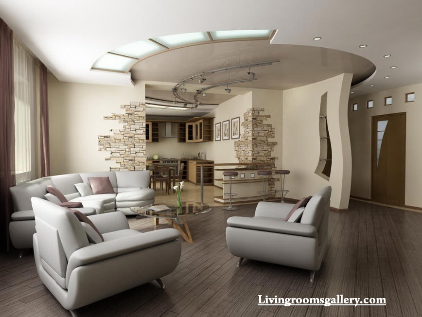 30 elegant modern pop false ceiling designs for living for Elegant contemporary living rooms
