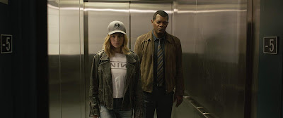 Captain Marvel 2019 Marvel movie still Brie Larson Samuel L. Jackson